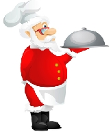 Santa Chief with platter
