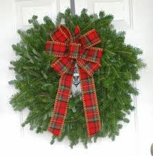 Christmas Wreath with a Bow