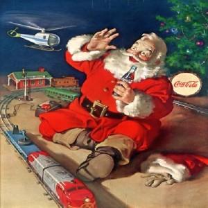Santa, Coke and a train
