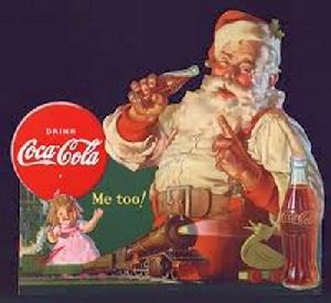 Santa and Coca Cola