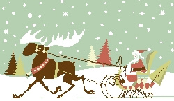 Santa and Snow and Sleigh