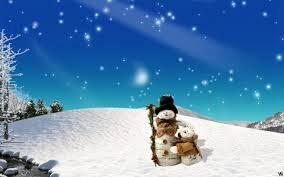 Snowman in a Field