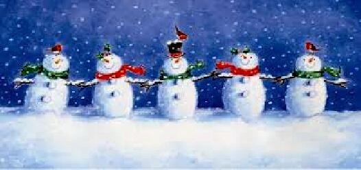 A line of Snowmen