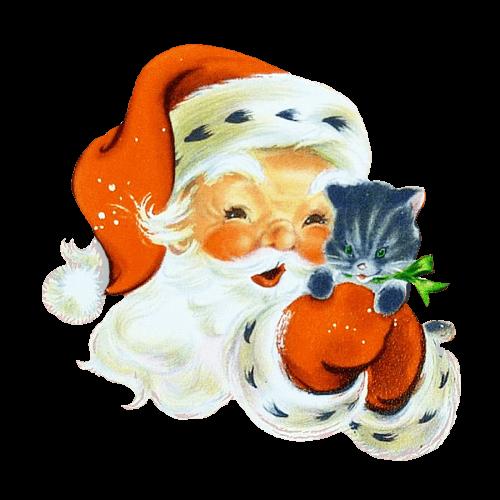 Santa and Kitten